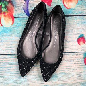 Libby Edelman Roscoe Studded Black Flats